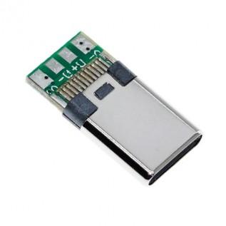 Разъем USB Type-C штекер на плате (4 контакта)