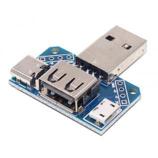 Адаптер USB-A - microUSB - USB-C