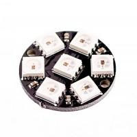 WS2812 - кольцо 7 RGB светодиодов