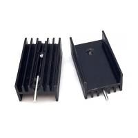 Радиатор алюминиевый TO-220 15x10x20 мм. черный