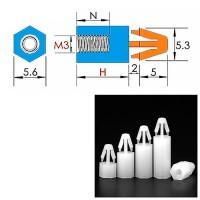 Стойка для платы нейлоновая М3 5мм