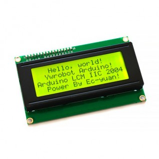 Дисплей 4x20 с интерфейсом I2C желтый