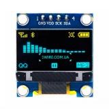 """Дисплей OLED 128x64 0.96"""" I2C голубой-желтый"""
