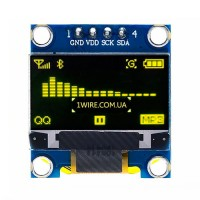 """Дисплей OLED 128x64 0.96"""" I2C желтый"""