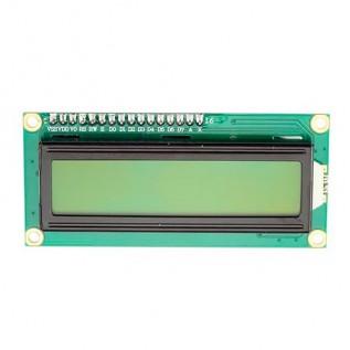 Дисплей 2x16 -1602A с интерфейсом I2C желтый
