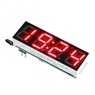 Модуль часов светодиодный красный 10 мм. (DS1302)