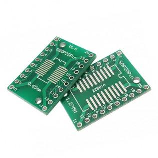 Макетная плата адаптер SOP20 SSOP20 TSSOP20 DIP20